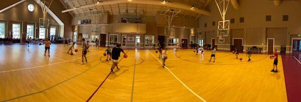 Pano View Basketball